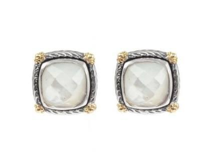 $290.00 Sterling Silver & 18k Gold MOP Earrings