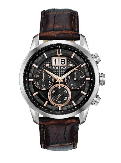 $371.25 Gts S/S and Rose Strap Chronograph Watch