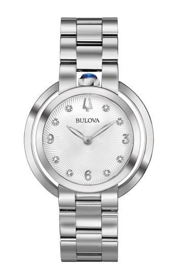"$446.25 Lds S/S ""Rubaiyat"" Silver Diamond Dial Watch"