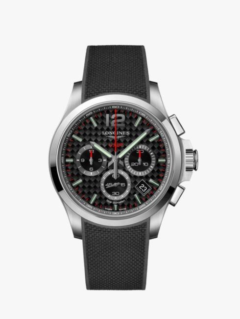 $1,700.00 CONQUEST V.H.P Gts Chronograph w/Carbon Fiber Dial Strap Watch