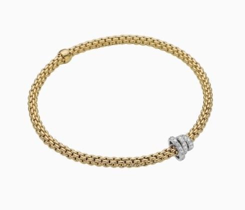 $3,435.00 FOPE Flex-it Bracelet with diamond pave