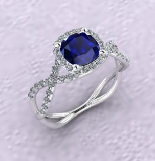 $1.00 Sapphire Halo Infinity Ring