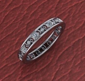 $0.00 unique wedding band