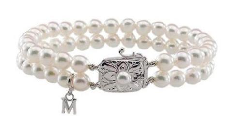 $2,310.00 Mikimoto double strand bracelet 7 x 7.5mm