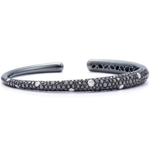 Diamond Cobblestone Bangle Bracelet