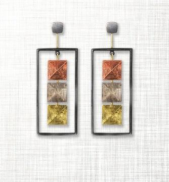 $1,176.00 Sterling Silver, Rose Gold, Yellow Gold and Palladium Earrings