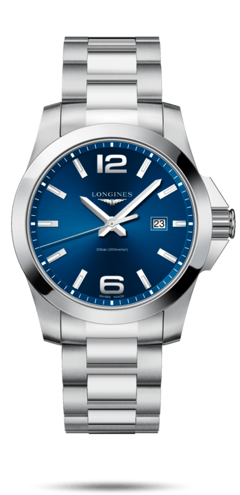 $800.00 CONQUEST 43mm Blue Dial