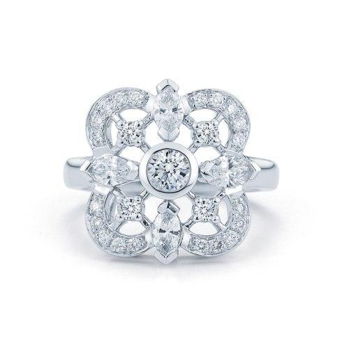 $5,050.00 Diamond Ring in 18K White Gold