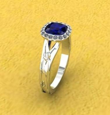 $1.00 Sapphire Engagement Ring