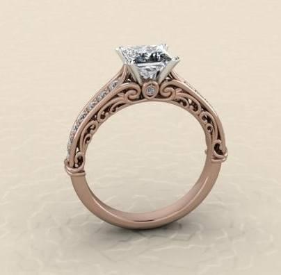 $0.00 custom rose gold engagement ring