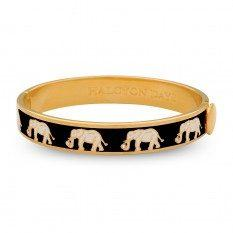 $230.00 Elephant Black & Gold with Crystal