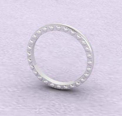 $0.00 custom heart wedding band