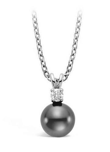 $895.00 14KW 9mm Tahitian and Cultured Pearl Pendant