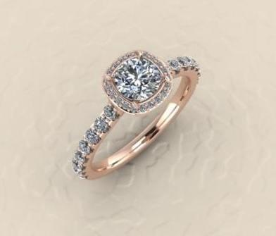rose gold engagement collection with 1 products