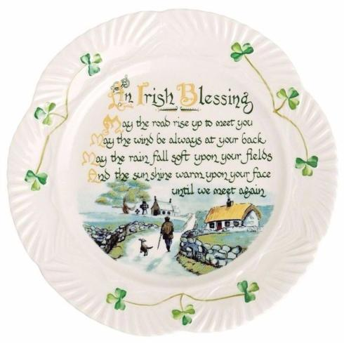 $60.00 BELLEEK CLASSIC IRISH BLESSING PLATE