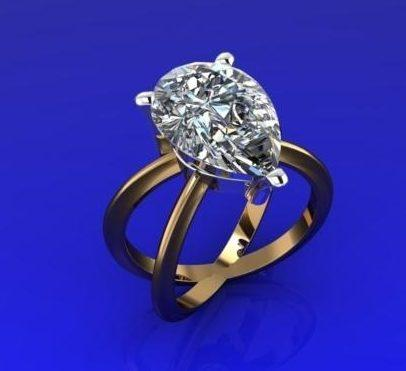 $0.00 remount for 4.75ct pear