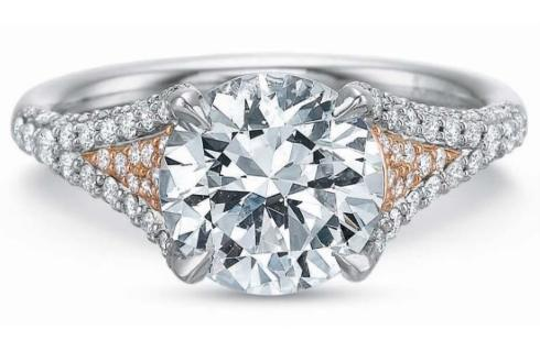 Extraordinary Diamond Split Shank and Gallery Engagement Ring