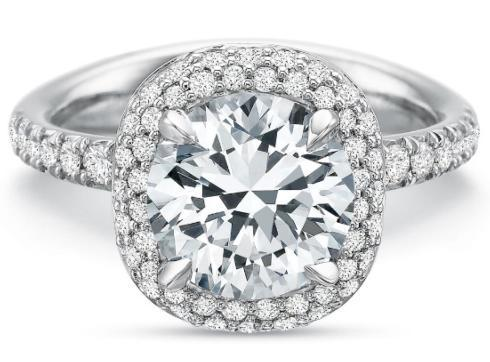 $10,000.00 Extraordinary Round Diamond Halo Engagement Ring