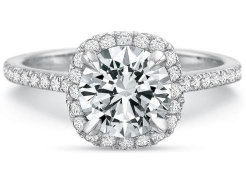 Extraordinary Round Diamond Halo Engagement Ring