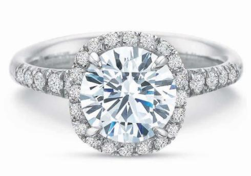 Extraordinary Cushion Diamond Halo Engagement Ring