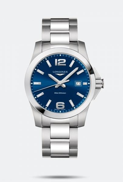 $750.00 Gts CONQUEST 41mm Blue Dial
