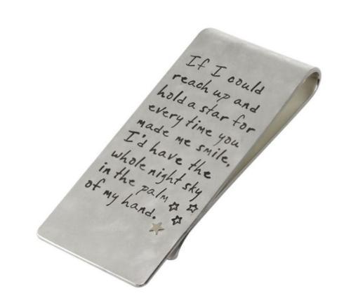 $515.00 Silver Quote Money Clip