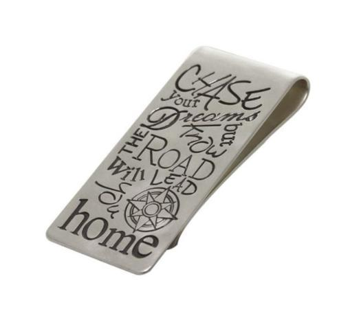 $400.00 Silver Inspirational Quote Money Clip