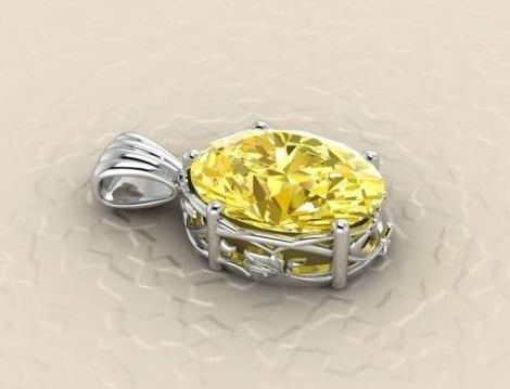 $0.00 golden beryl award wining pendant