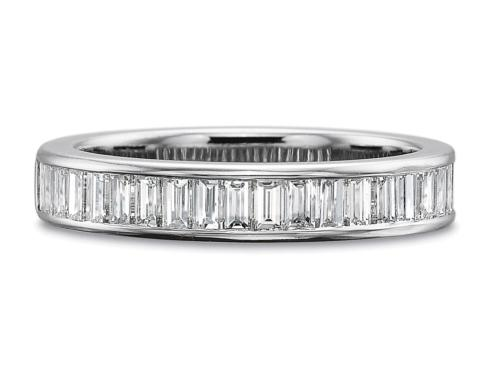 $10,000.00 1ctw Half Round Channel Set Baguette Diamond Band