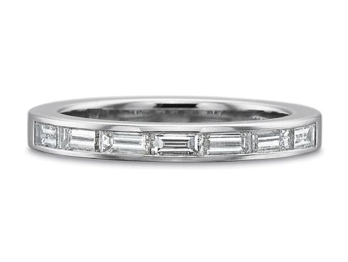 .70ctw Half Round Horizontal Baguette Diamond Ring