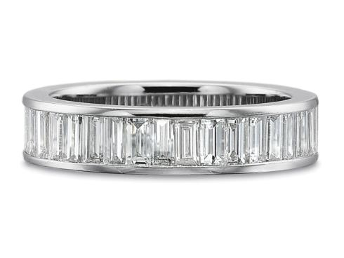 1.50ctw Half Round Channel Set Baguette Diamond Ring