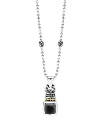ONYX CABACHON PENDANT NECKLACE
