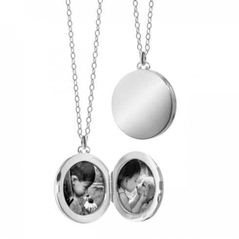 Round Locket With Domed Edges