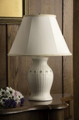 $95.00 BELLEEK CLASSIC BRAID LAMP AND SHADE