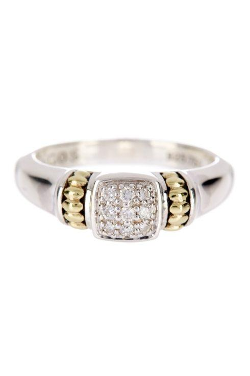 $375.00 Only 1 Left! Diamond Square Ring Size 7 (can resize)