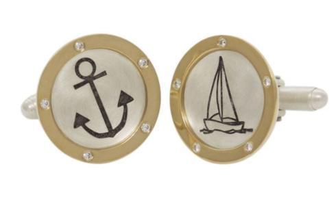 $2,240.00 Mixed Metal Nautical Cufflinks