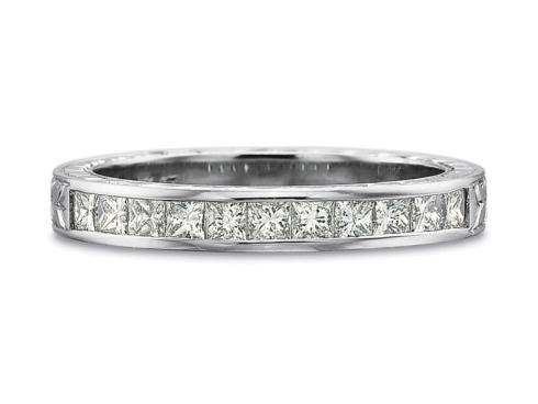 .50ctw Half Round Channel Set Princess Cut Diamond Band