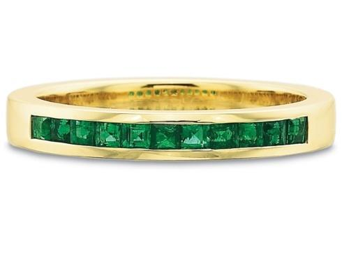 .30ctw Half Round Square Channel Set Emerald Band