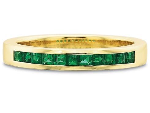 $10,000.00 .30ctw Half Round Square Channel Set Emerald Band