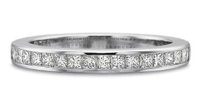 Half Round Princess Cut Diamond Channel Set Band