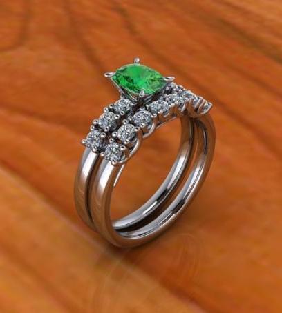$1.00 Emerald and Diamond Set