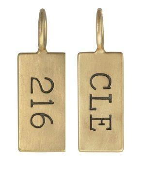 $425.00 Yellow Gold City ID Tag