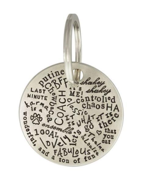 $585.00 Silver Graffiti Keychain