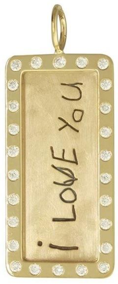 $3,200.00 Yellow Gold Hand Written Message ID Tag