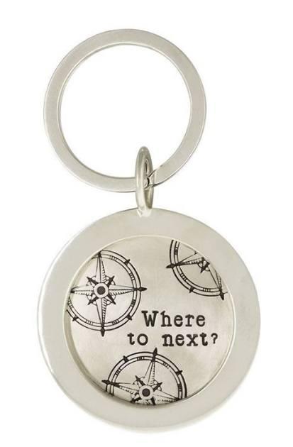 $640.00 Silver Travel Keychain