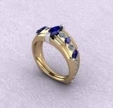 $0.00 Custom Ring from Customer\'s Stones