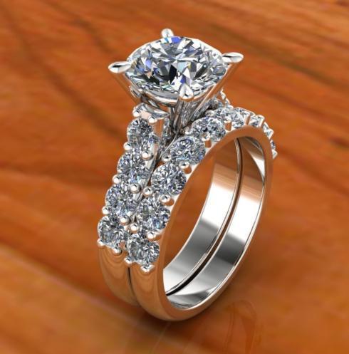 $1.00 Classic Diamond Bridal Set