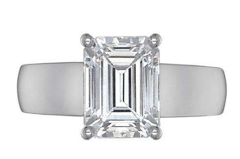 Couture FlushFit 5MM Tapered Shank for Emerald Cut Center