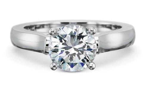 FlushFit™ 2.75MM Solitaire Engagement Ring for Round center