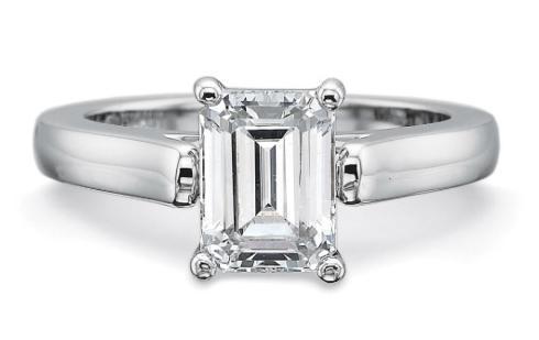 FlushFit™ 2.75MM Solitaire Engagement Ring for Emerald cut center